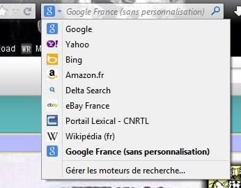 Toolbar pour une recherche Google France non personnalisée