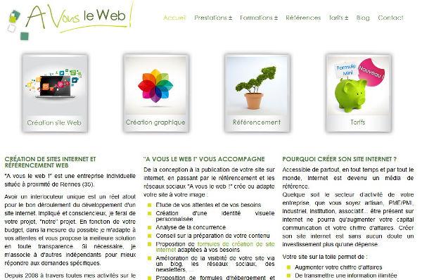 Avousleweb référencement et création de sites Internet