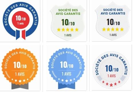 Badges Avis clients