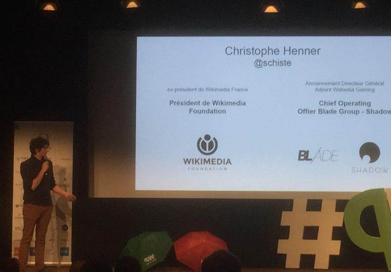 Christophe Henner, monsieur wikimedia wikipedia à Que du web 2017