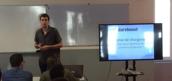 Damien Jubeau de Dareboost au seocamp de Nantes