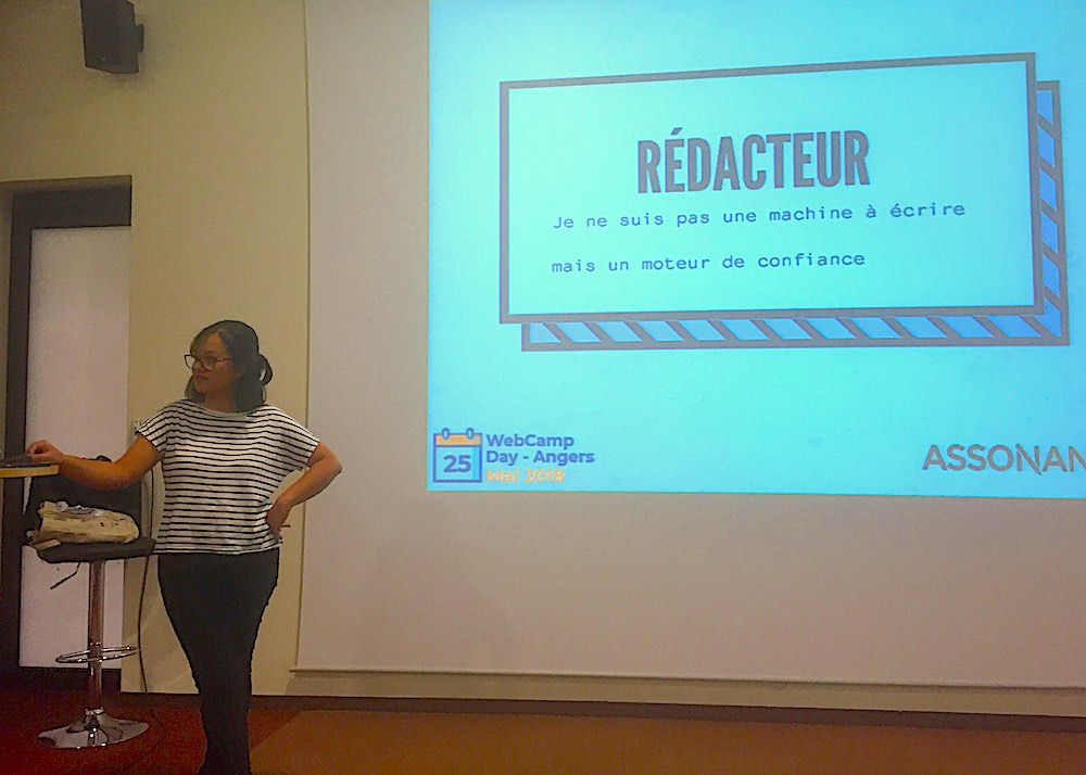 Ecribouille rédactrive web SEO en conférence à Angers au WebCampDay